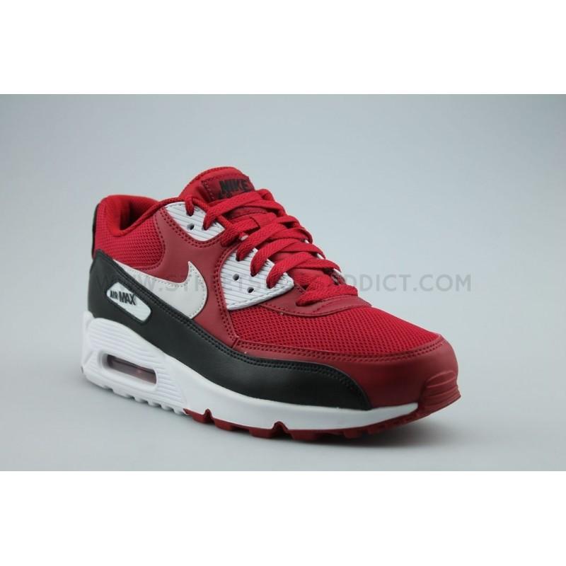 nike air max assaillir 4 - Nike Air Max 90 Essential Rouge Noir 537384-610 | Street Shoes Addict