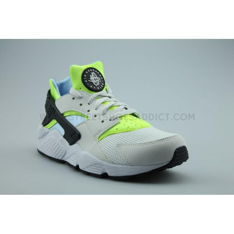 Nike Air Huarache Baskets Blanc 318429-107 Blanc