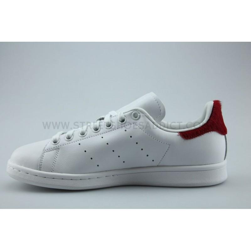 adidas originals stan smith w blanc rouge s75562 street shoes addict. Black Bedroom Furniture Sets. Home Design Ideas
