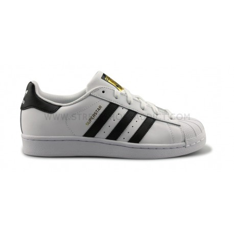 ADIDAS ORIGINALS SUPERSTAR J BLANC NOIR