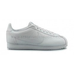 NIKE WMNS CLASSIC CORTEZ LEATHER BLANC