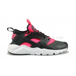 NIKE AIR HUARACHE RUN ULTRA JUNIOR NOIR ROSE