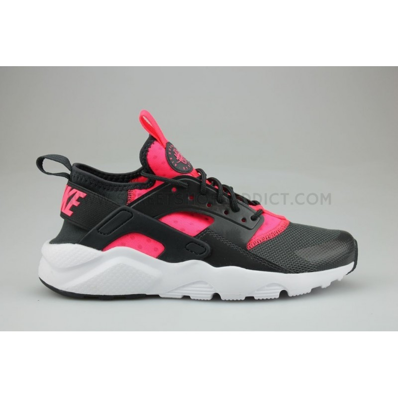 NIKE AIR HUARACHE RUN ULTRA JUNIOR NOIR ROSE; NIKE ...