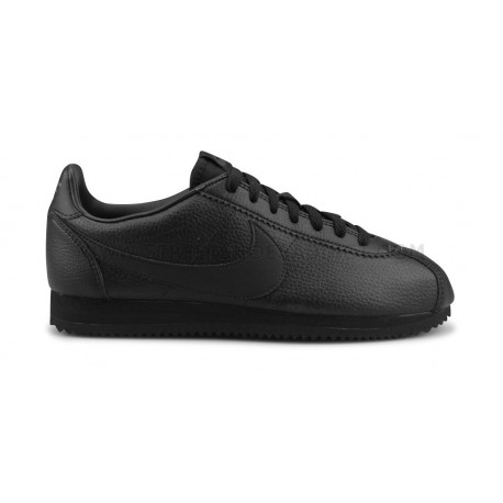 NIKE CLASSIC CORTEZ LEATHER NOIR