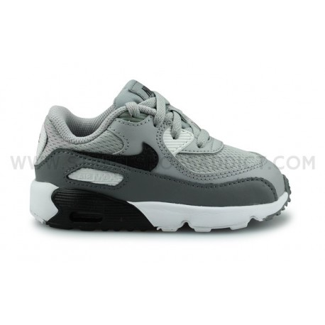Nike Air Max 90 Mesh Bebe Gris Street Shoes Addict