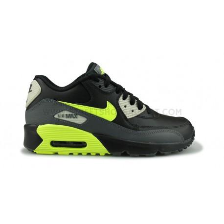 Nike Air Max 90 Leather Junior Noir