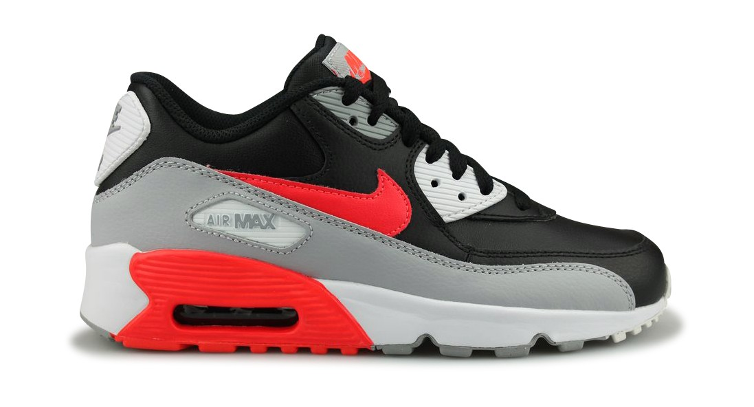 best service ff9e8 ca92f Nike Air Max 90 Leather Junior Noir - Street Shoes Addict
