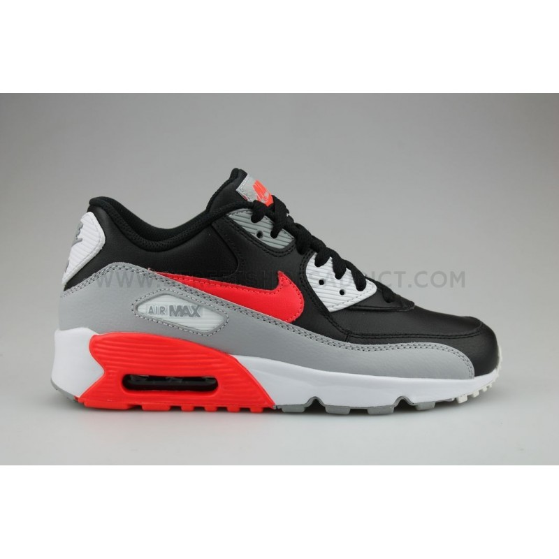 finest selection f29e7 913c9 Nike Air Max 90 Leather Junior Noir  Nike ...
