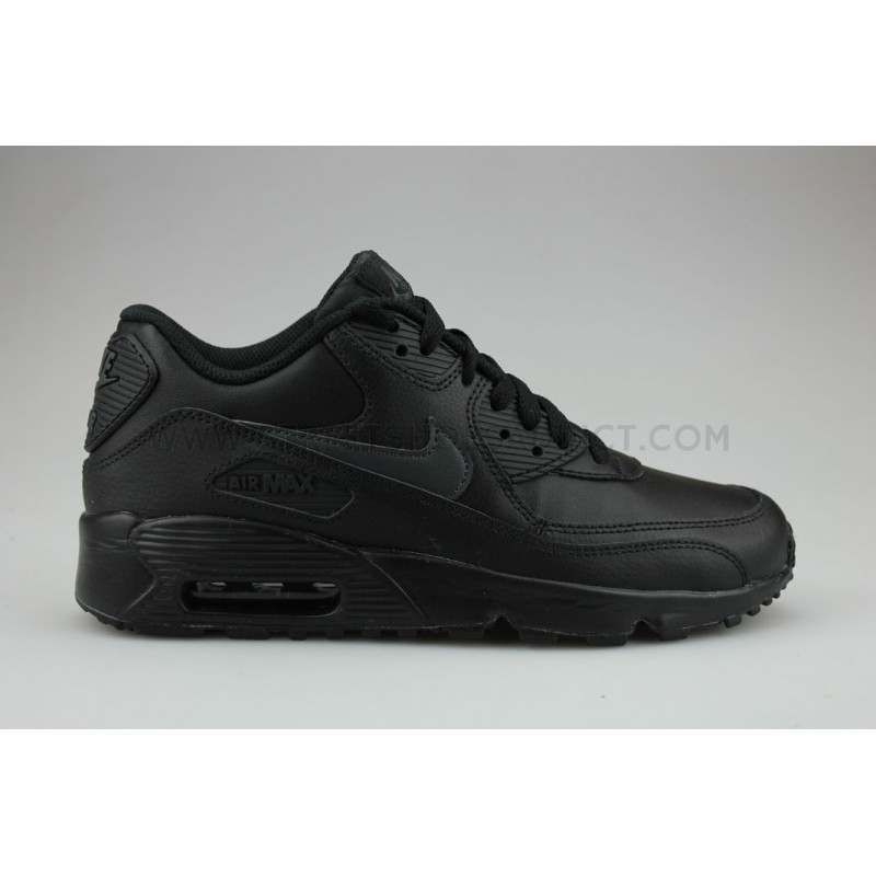 low priced 7821b d5e26 Nike Air Max 90 Leather Junior Noir Nike ...