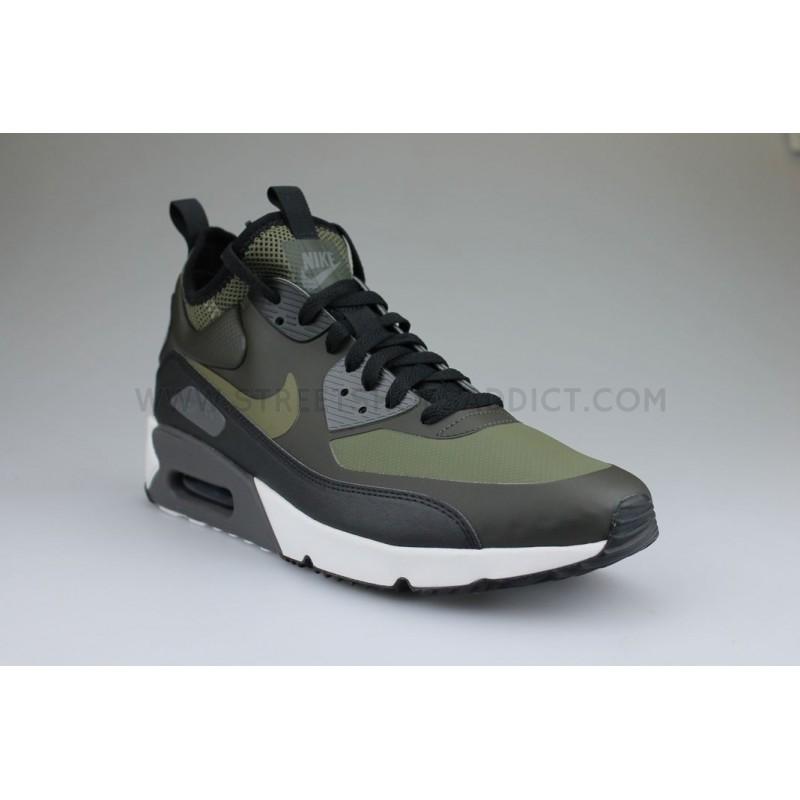 Nike Air Max 90 Ultra Mid Winter Kaki Street Shoes Addict