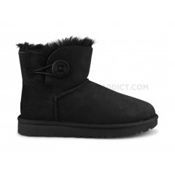 Ugg W Mini Bailey Button 2 Noir