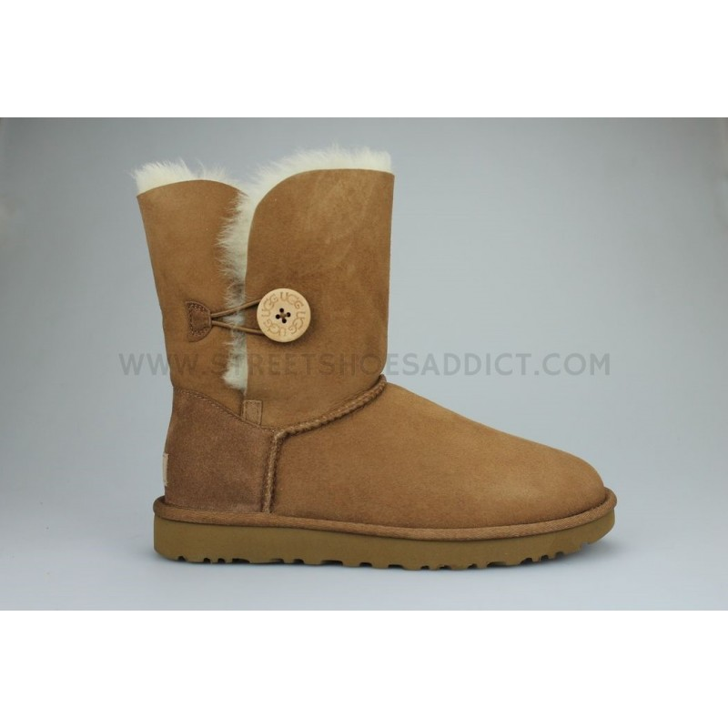 UGG W Bailey Button II Marron 1016226CHE | Street Shoes Addict