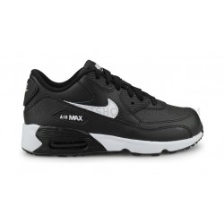 finest selection 6fad5 f21ac Nike Air Max 90 Leather Enfant Noir