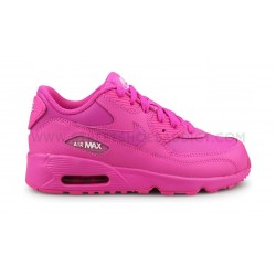 Nike Air Max 90 Leather Enfant Rose