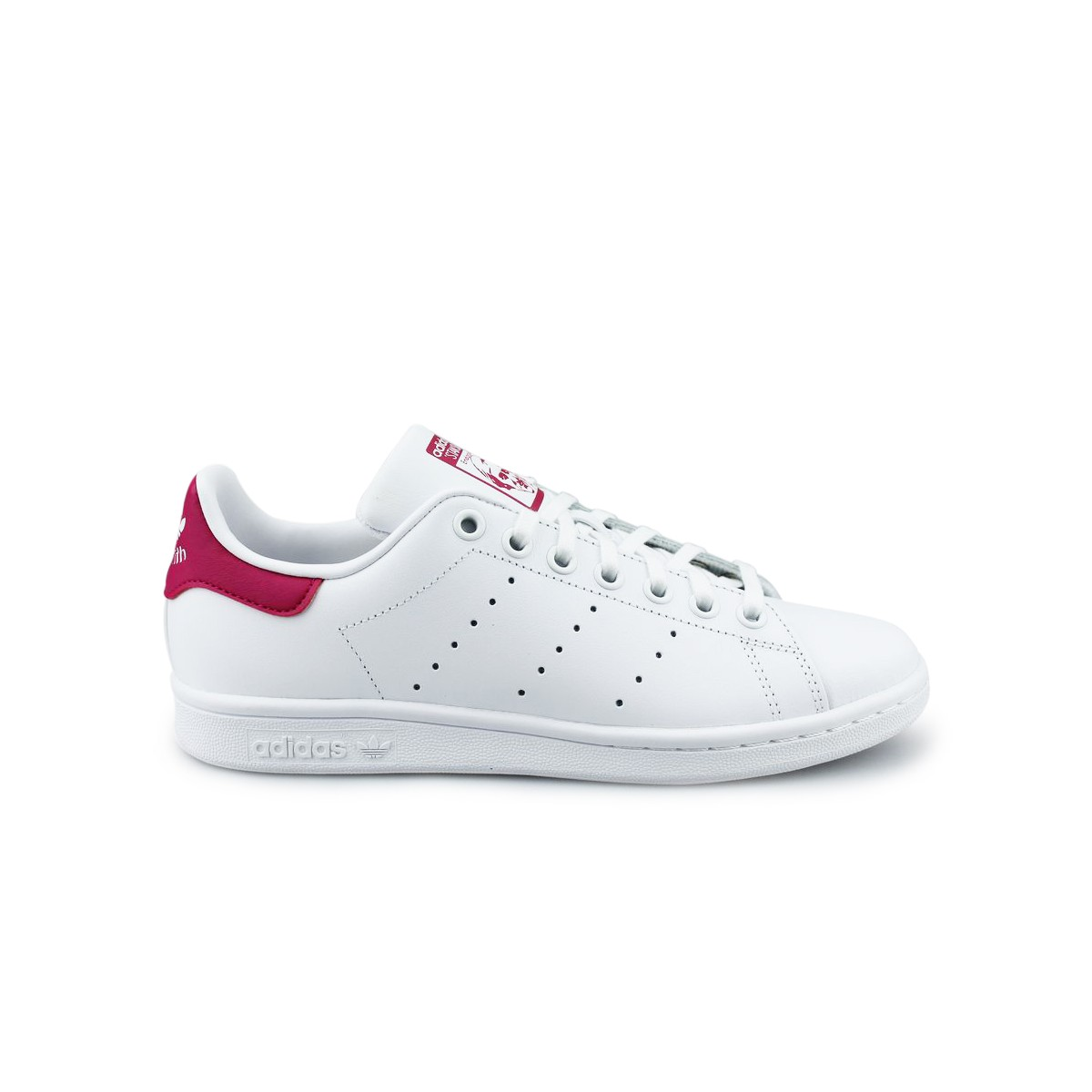 quality design ec8b1 0bfbe Adidas Originals Stan Smith J Blanc Rose B32703   Street Shoes Addict