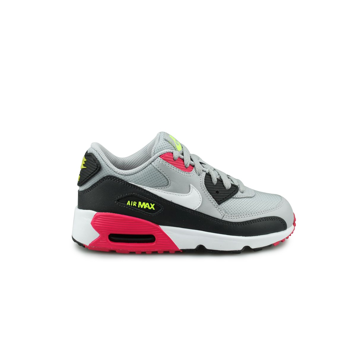 Nike Air Max 90 Mesh Enfant Gris Street Shoes Addict