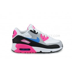 Nike Air Max 90 Leather Enfant Blanc