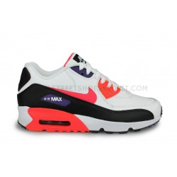 Nike Air Max 90 Leather Junior Blanc