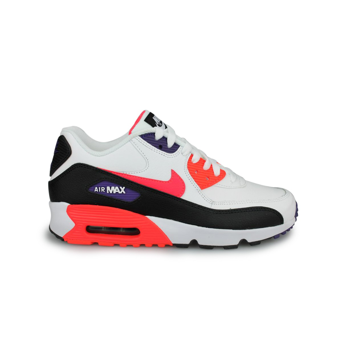 Nike Air Max 90 Leather Junior Blanc Street Shoes Addict