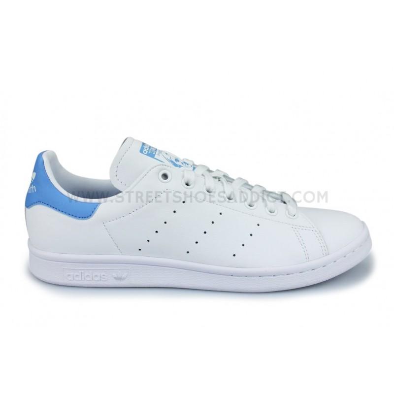 adidas stan smith blanche et bleue