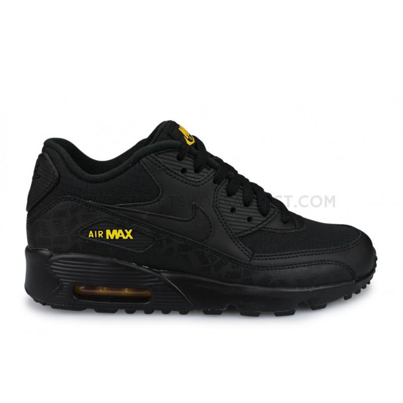 air max 90 essential noire et jaune