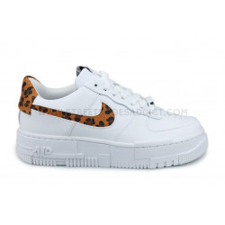 Wmns Nike Air Force 1 Pixel Leopard Se Blanc