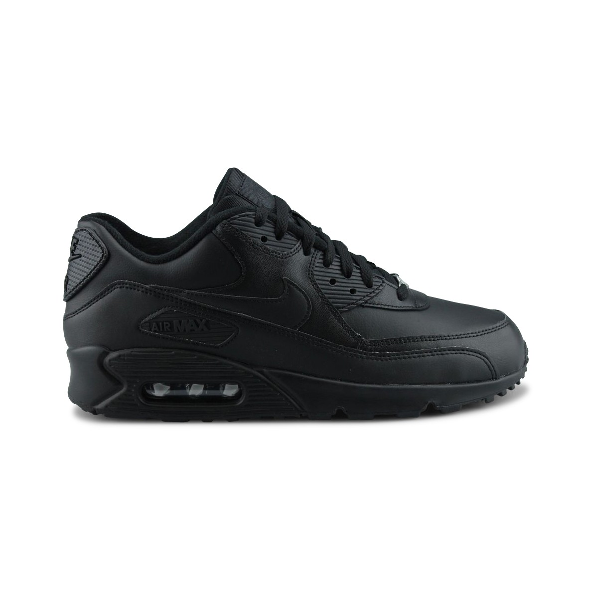 new arrival dbb7e 5f042 Nike Air Max 90 Cuir Leather Noir 302519-001   Street Shoes Addict