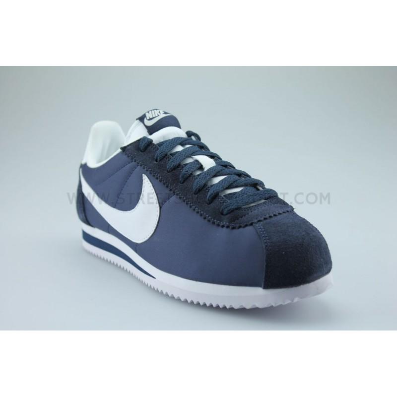 classic cortez nylon bleu